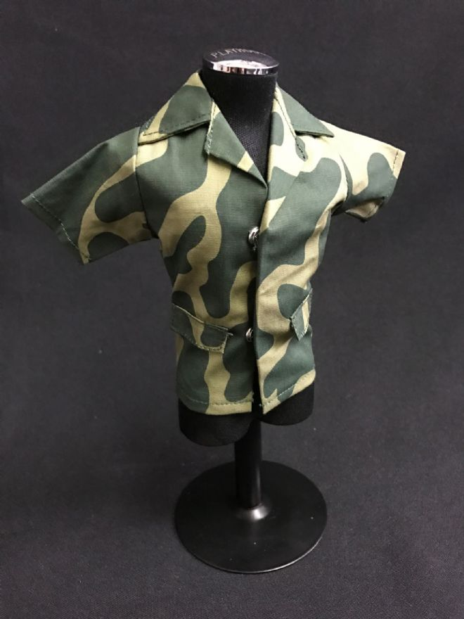 ELITE BRIGADE - Amoeba Green Camo short sleeve shirt to fit Action Man/Gi Joe Adventure Team etc